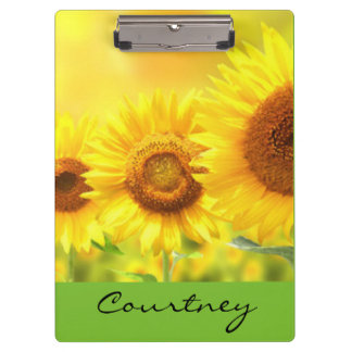 Yellow Sunflowers Clipboards