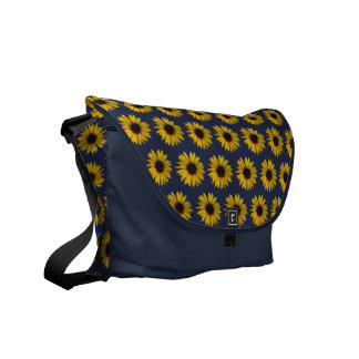 Yellow Sunflowers Courier Bags