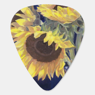 Yellow Sunflowers Guitar Pick