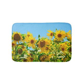 Yellow Sunflowers in a Field Bath Mat