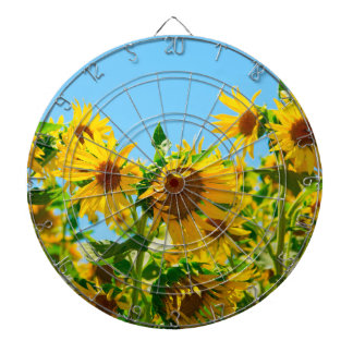 Yellow Sunflowers in a Field Dart Boards