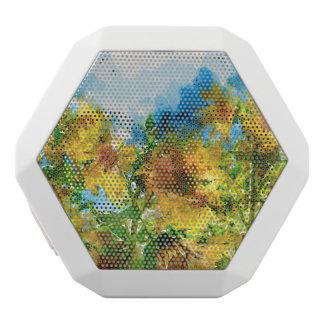 Yellow Sunflowers in a Field White Bluetooth Speaker