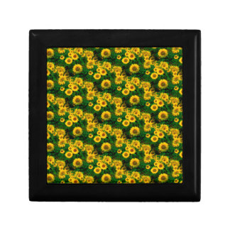 yellow sunflowers jewelry boxes