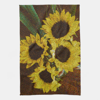 Yellow Sunflowers Kitchen Towel