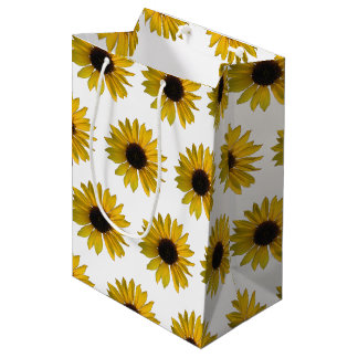 Yellow Sunflowers Medium Gift Bag