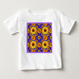 Yellow Sunflowers On Amethyst Color Gifts Baby T-Shirt