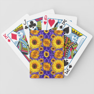 Yellow Sunflowers On Amethyst Color Gifts Bicycle Playing Cards