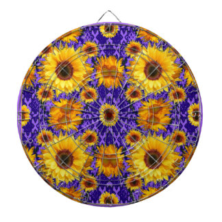 Yellow Sunflowers On Amethyst Color Gifts Dartboard
