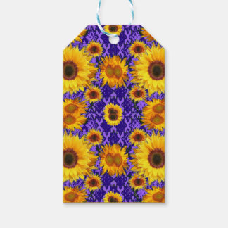 Yellow Sunflowers On Amethyst Color Gifts Gift Tags
