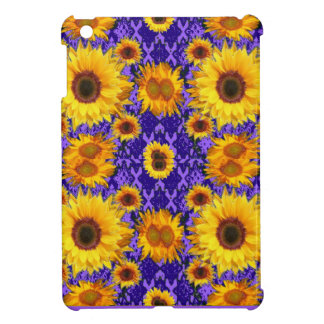 Yellow Sunflowers On Amethyst Color Gifts iPad Mini Case