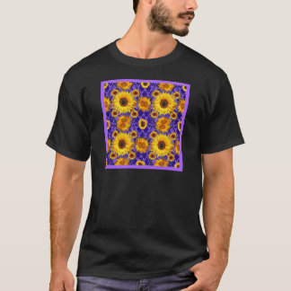 Yellow Sunflowers On Amethyst Color Gifts T-Shirt