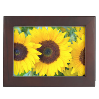 Yellow sunflowers print keepsake box