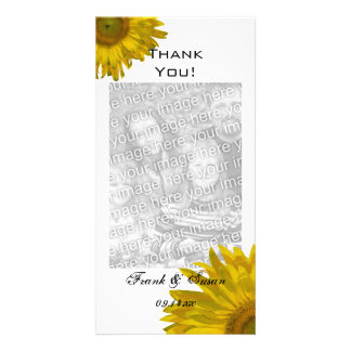 Yellow Sunflowers Thank You Card