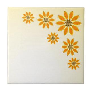 Yellow Sunflowers Tile