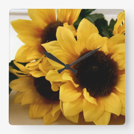 Yellow Sunflowers Wall Clock