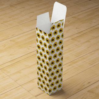 Yellow Sunflowers Wine Bottle Box