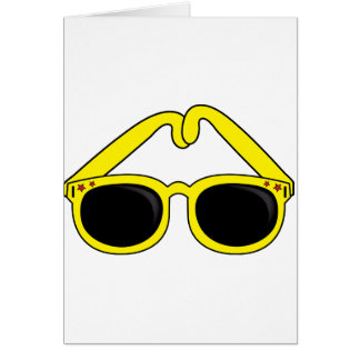 Yellow Sunglasses Note Cards