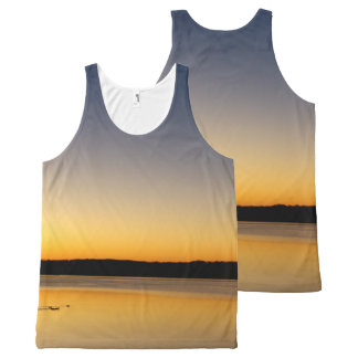Yellow Sunrise All-Over-Print Tank Top
