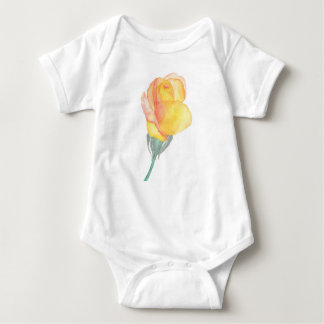 Yellow Sunset Rose Baby Shirt