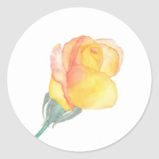 Yellow Sunset Rose Stickers