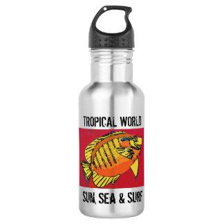 Yellow surf (1517) 532 ml water bottle