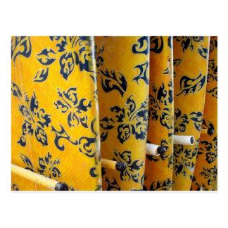 Yellow Surfboards in Racks Postcard