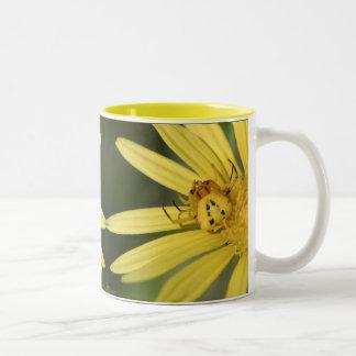 Yellow Surprise Two-Tone Coffee Mug