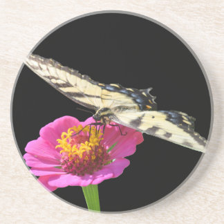 Yellow Swallowtail Beverage Coaster