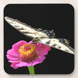 Yellow Swallowtail Beverage Coasters