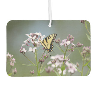 Yellow swallowtail butterfly and wildflowers air freshener