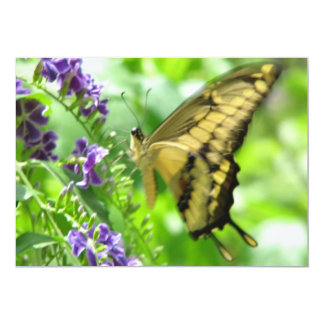 "Yellow Swallowtail Butterfly Invitation 5"" X 7"" Invitation Card"