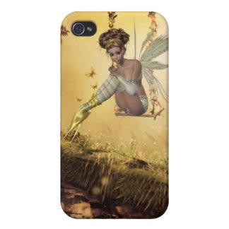 Yellow Swinging Fairy iPhone 4 Case