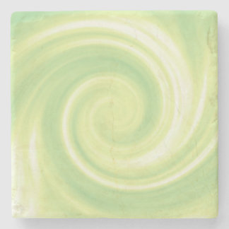 Yellow Swirl Stone Coaster
