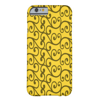 Yellow swirls iPhone 6 case