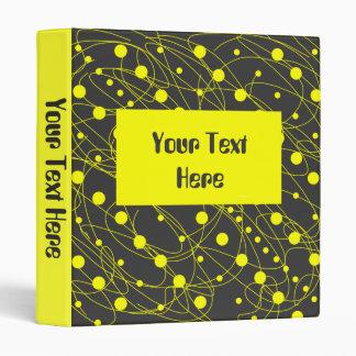 Yellow Swirls Modern Binder