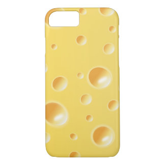 Yellow Swiss Cheese Slice Texture iPhone 7 case