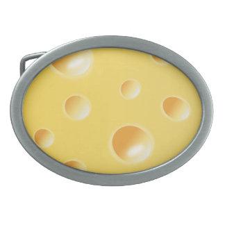 Yellow Swiss Cheese Texture belt buckle