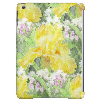 Yellow Tall Bearded Iris Watercolor iPad Air Case