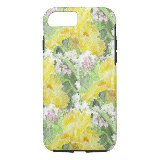Yellow Tall Bearded Iris Watercolor iPhone 8/7 Case