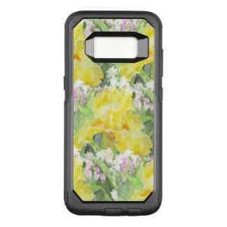 Yellow Tall Bearded Iris Watercolor OtterBox Commuter Samsung Galaxy S8 Case