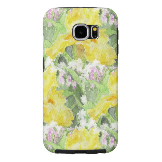 Yellow Tall Bearded Iris Watercolor Samsung Galaxy S6 Case