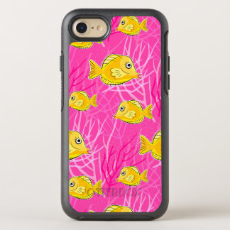 Yellow Tang in a Pink Coral Sea OtterBox Symmetry iPhone 8/7 Case