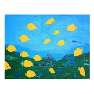 Yellow Tang Tropical Postcard