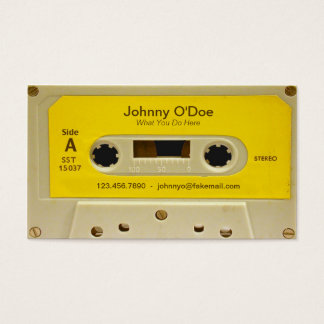 Yellow Tape Business Card