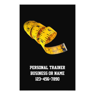 Yellow Tape Measure Personal Trainer Weight Loss Flyers