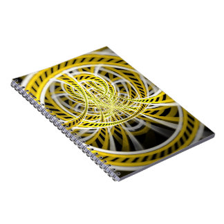 Yellow Tape Roller Coaster Ride on Fractal Rails Notebook