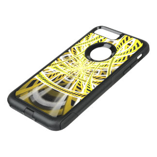 Yellow Tape Roller Coaster Ride on Fractal Rails OtterBox Commuter iPhone 8 Plus/7 Plus Case