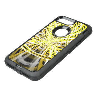 Yellow Tape Roller Coaster Ride on Fractal Rails OtterBox Defender iPhone 7 Plus Case
