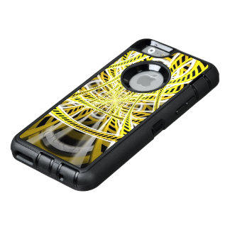 Yellow Tape Roller Coaster Ride on Fractal Rails OtterBox Defender iPhone Case
