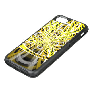 Yellow Tape Roller Coaster Ride on Fractal Rails OtterBox Symmetry iPhone 8/7 Case
